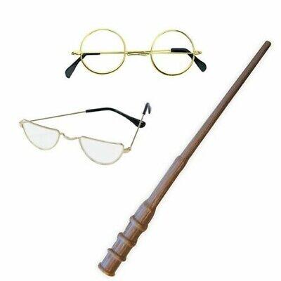 Magic Zauberer Brille und Zauberstab Kostüm Set Mädchen Jungen Erwachsene Prop