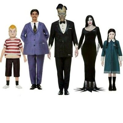 Offiziell Addams Family Halloween Kostüme Erwachsene Kinder Kostüm Morticia