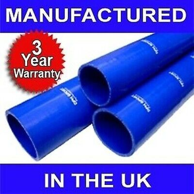"35mm 1 3/8"" SILICONE HOSE 1 METRE STRAIGHT PIPE BLUE M"