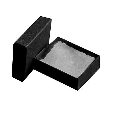 Wholesale 100 Small black Swirl Cotton Filled Jewelry Gift Boxes 17/8