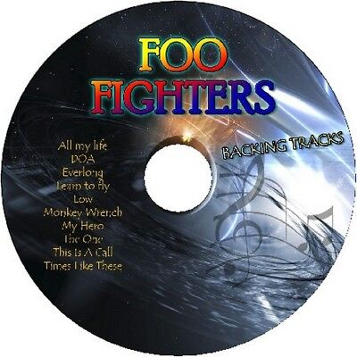 FOO FIGHTERS GUITAR BACKING TRACKS CD BEST OF GREATEST HITS MUSIC PLAY