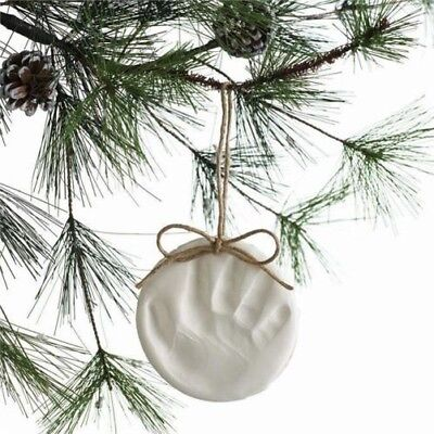Baby & Child Christmas Tree Decoration, Handprint Footprint Imprint Kit, - Handprint Christmas Tree