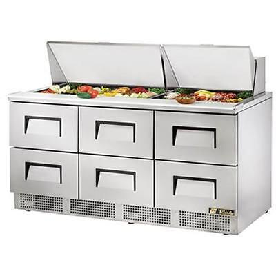 True Tfp-72-30m-d-6 72 Mega Top Sandwichsalad Prep Table With Six Drawers