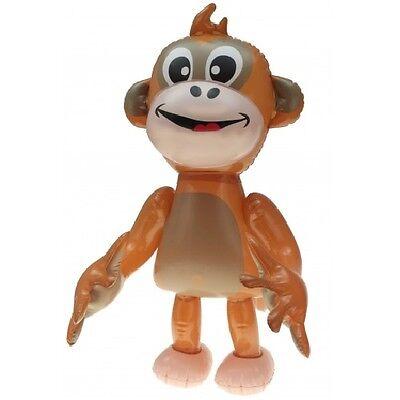 1 Stück Aufblasbarer Affe Luftaffe 50 cm hoch Luft Affe Aufpustbarer Affen Figur