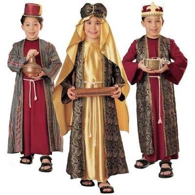 Rubies Drei Wise Herren Weihnachten Krippenspiel Gaspar Balthazar Kinder - Gaspar Kind Kostüm