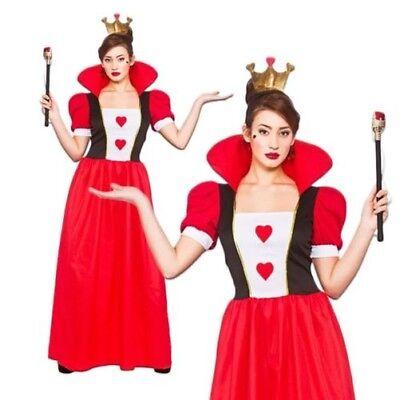 Damen Märchenbuch Königin der Herzen Alice Erwachsene Kostüm Buch Tag UK - Damen Königin Der Herzen Kostüm