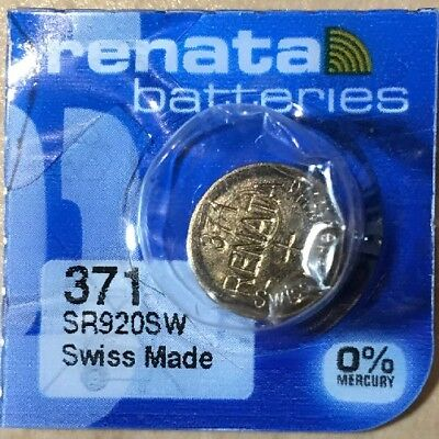 1-Renata 371 Battery SR920SW  Silver Oxide. Authorized Seller. Expiration 06/21.