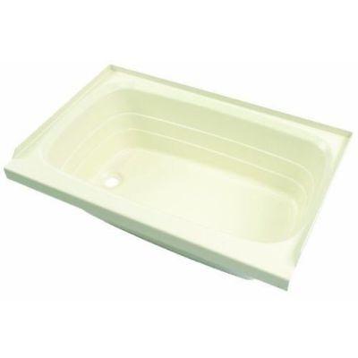 Lippert 209372 RV Trailer Motorhome Part Bath Tub Parchment Finish LH Hand Drain