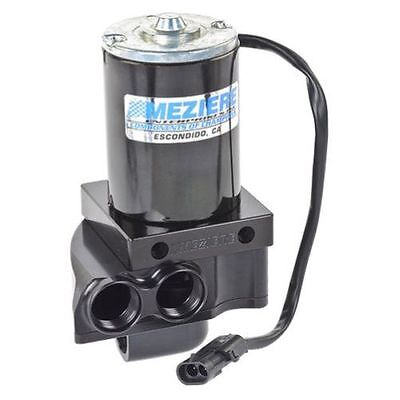 Meziere WP137S Remote Mount Electric Water Pump Black Anodized