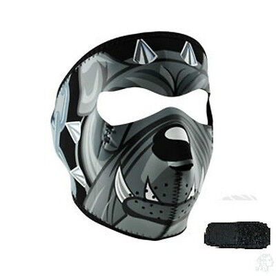 Bull Dog Neoprene Full Face Mask & Extender For Large XL Heads Biker Costume ATV