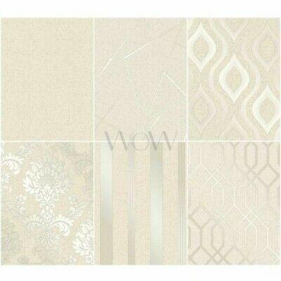 Fine Decor Quarz Gold Tapete Streifen//Geometrisch//Damast Glitter Vinyl