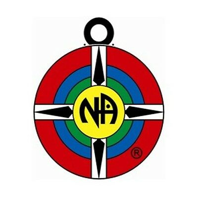 """Narcotics Anonymous Recovery Keychain NA Original Logo Key Tag 1 3/8"""" round"""