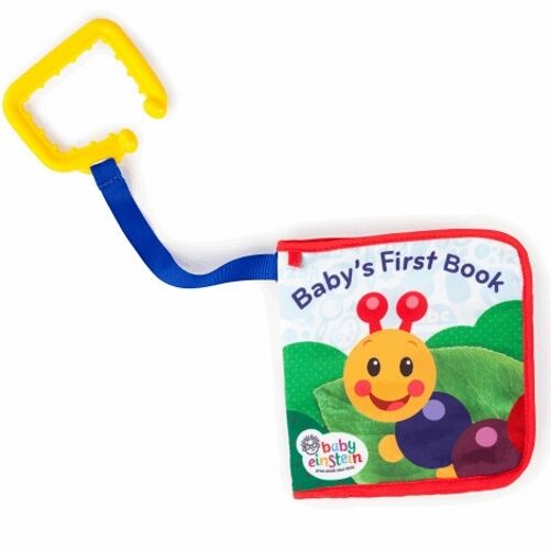Baby Einstein Explore Book,  crinkle sounds, with on the go clip