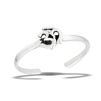 Sterling Silver Eastern Hindu OHM OM Universal Sound Toe Ring Jewelry