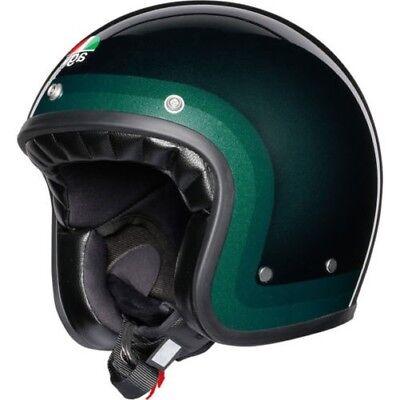 AGV X70 Trofeo Open Face Retro Vintage Motorcycle Motorbike Helmet - Green
