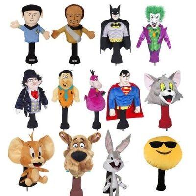 Novelty Driver Golf Headcover (Superman, Scooby-Doo, Batman, Emoticon, StarTreck - Novelty Golf Headcover