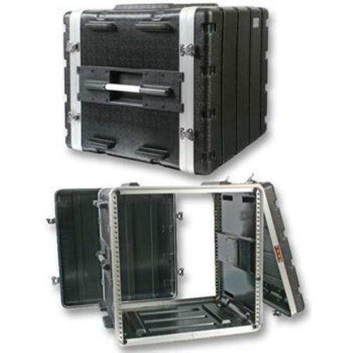 "NEW PA DJ 10RU Equipment Rack Mount Flight Storage Case.Concert.19"" Stage."