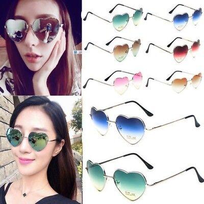 Damen Liebe Herz Form Linse Stylisch Brillen Metallrahmen Sonnenbrille Brille