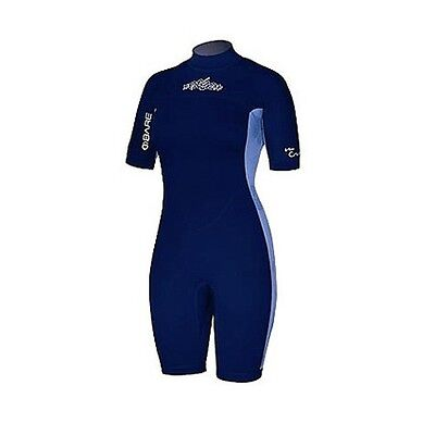 Womens 2mm Bare Crush Wetsuit Spring Suit Shortie Ladies 12 Dive Surf  Shorty Sky a28a447b6