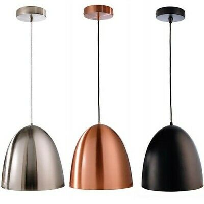 Luz Colgante Lámpara de Araña Techo E27 Silver Cobre Negro 230V