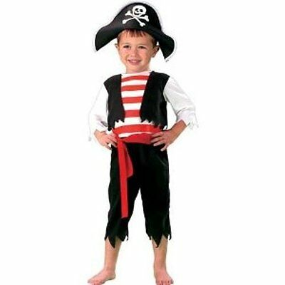 Toddler boys 3T 4T PINT SIZE PIRATE Halloween costume FREE - 3t Halloween Costumes