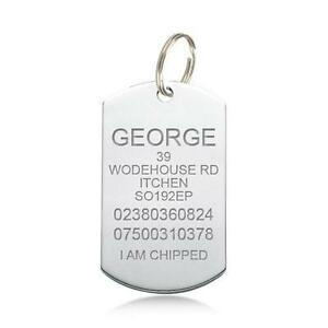 engraved dog tags ebay