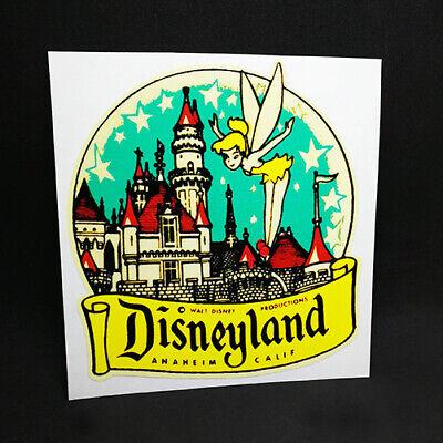 Disneyland Tinkerbell Decal / Vintage Style Vinyl Travel Sticker, Luggage (Disneyland Fashion)