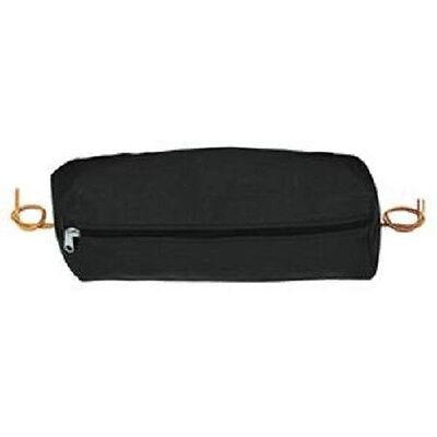 Weaver Horse Tack Black Trail Saddle Rectangular Nylon Cantle Bag Small