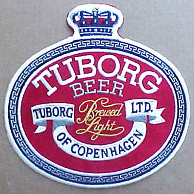 TUBORG BEER Large PATCH with Crown, Heileman Brewing Co, La Crosse, WISCONSIN 1+