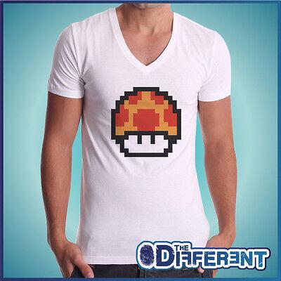 Mushroom Mario Bros Vintage Game - No Glück No My T-Shirt (Mario Bros Ausschnitte)