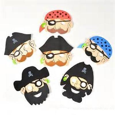 (12) FOAM PIRATE MASKS Kids Party Favor Costume Dress Up #ST44 Free Shipping (Pirate Masks)