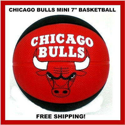 Chicago Bulls Mini Basketball - Chicago Bulls Mini Basketball 7 Inch Spalding - St. Paul Federal Bank Promo Ball