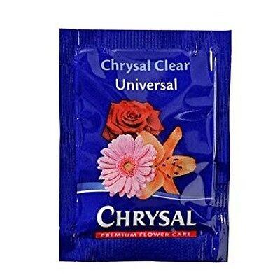 Chrysal Flower Food -100 Packets Fresh Cut Flowers Clear formula Hydrate Nourish