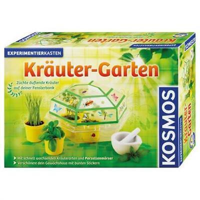 KOSMOS 632069 - Kräutergarten Experimentierkasten Pflanze Beobachten Gewächshaus