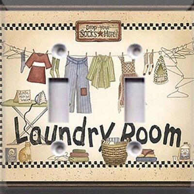 Laundry Room Themed Light Switch Plate Cover ~ Choose Your Cover ~