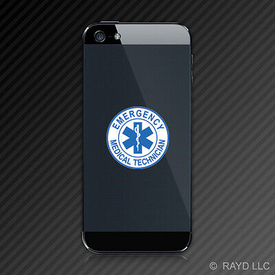 (2x) Star of Life Cell Phone Sticker Mobile Emergency Medical Technician EMT