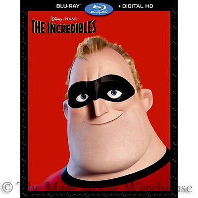Disney Pixar Superhero Family Action Comedy The Incredibles Blu-ray Digital Copy