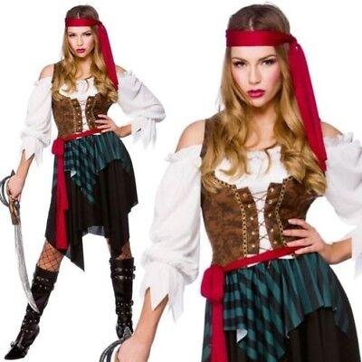 er Pirat Damen Damenmode Kleid Kostüm Piraten Outfit 6/28 (Erwachsenen Pirat Kostüme)