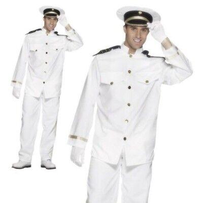 emann Offizier & Gentleman Kapitän Herren Verkleidung Kostüm (80er Jahre Kostüm Mann)