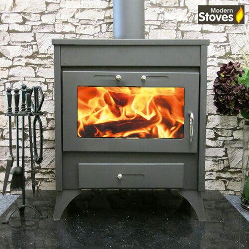 Back Boiler Stove Wood Burning Multi fuel, Dena 20kw Wood Burner Modern Stoves
