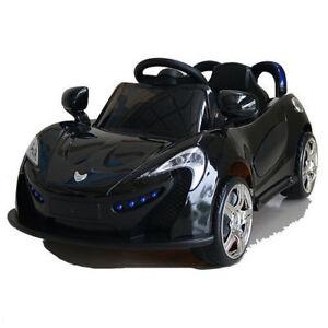 Kinder Elektroauto Crooza Roadster mit 2x Motoren Mp3 LED Schwarz, Gebraucht
