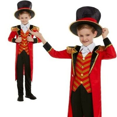 Jungen Größte Zirkusdirektor Zirkus Show Kostüm Kinder Mantel - Kind Zirkusdirektor Kostüme
