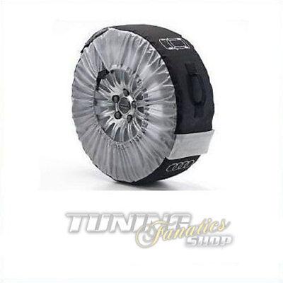 4x Original Audi Bolso Ruedas Neumático Almacenamiento Llantas de Aluminio