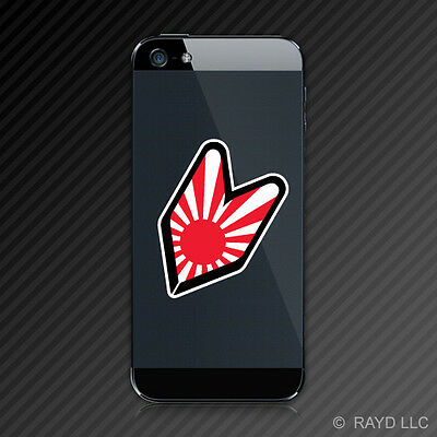 Japanese Soshinoya Wakaba Driver Badge JDM Cell Phone Sticker Decal Rising Sun