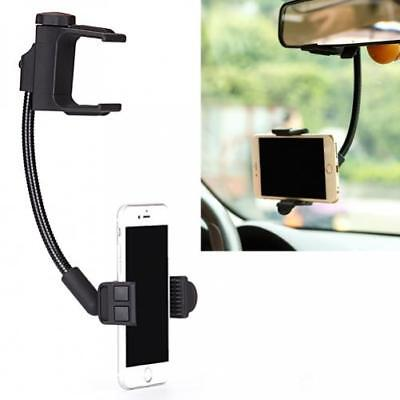 PREMIUM CAR MOUNT REAR VIEW MIRROR HOLDER DOCK CRADLE For CELL PHONES Premium Car Mount
