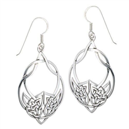 Sterling Silver Interwoven Celtic Dangle Earring
