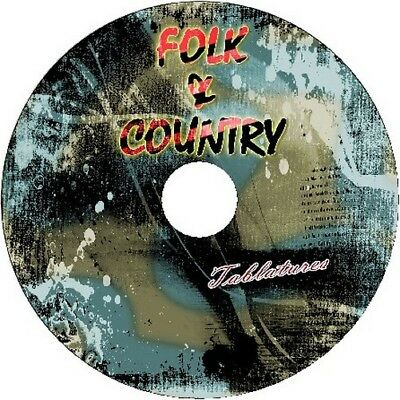 FOLK COUNTRY BASS & GUITAR TAB CD TABLATURE BEST OF GREATEST HITS ACOUSTIC