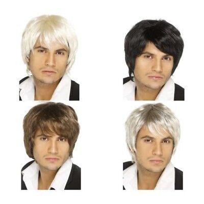 Erwachsene Herren Boy Band Perücke Haarteil Music Pop Star Promi Kostüm (Pop Haarteile)