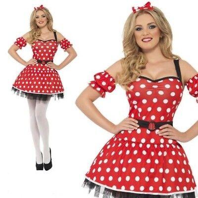 Fieber Miss Minnie Kostüm Damen Märchenbuch Maus Kostüm UK (Miss Minnie Kostüme)