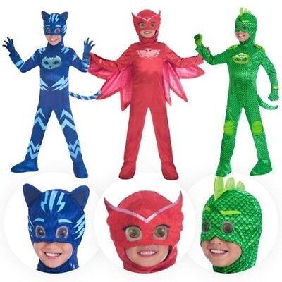 Kinder-Mädchen Jungen Offiziell Pj Masks Deluxe Superhelden Maske - Mädchen Superhelden Kostüm